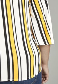 MY TRUE ME TOM TAILOR - WRAP - Long sleeved top - black yellow stripe - 4