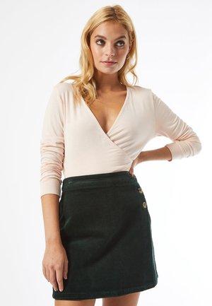 PETITE CORD - Mini skirt - green