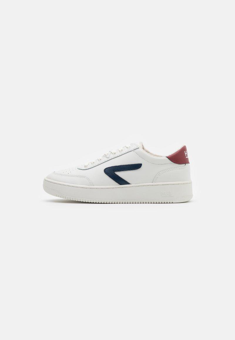 HUB - BASELINE - Sneakersy niskie - offwhite/gravel/ blue