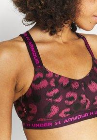 Under Armour - CROSSBACK LOW PRINT - Light support sports bra - polaris purple - 3