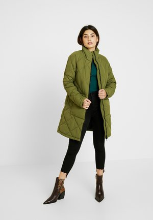 NMMALCOM LONG JACKET - Classic coat - winter moss
