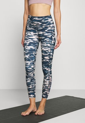SUPER SCULPT YOGA LEGGINGS - Medias - stellar blue water