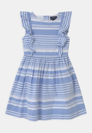 STRIPE - Shirt dress - harbor island blue/white