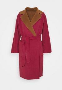 WEEKEND MaxMara - RAIL - Classic coat - bordeaux/camello - 6