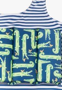 Sunuva - STRIPE CROCODILE FLOAT SUIT - Swimsuit - navy - 3