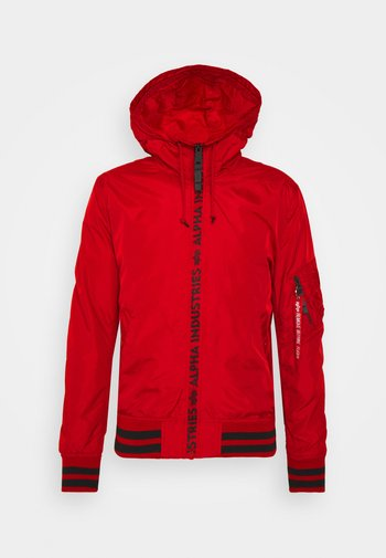 HOODED - Summer jacket - speed red