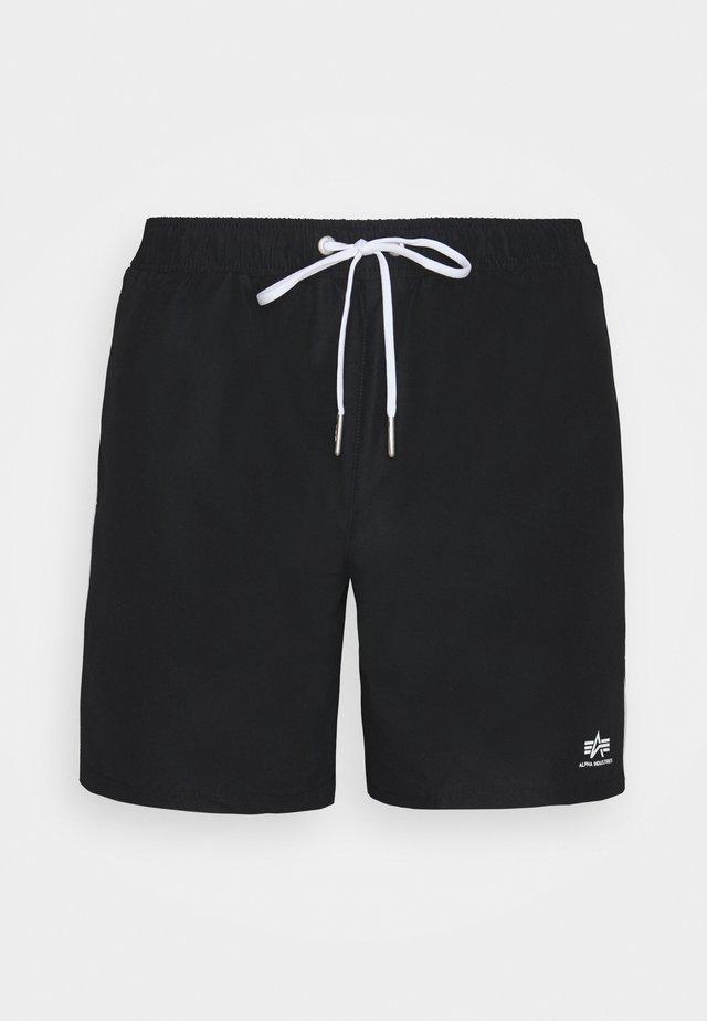 PRINTED STRIPE SWIM - Swimming shorts - black/white