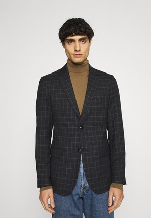 CHECKED SUIT - Blazer jacket - navy blazer