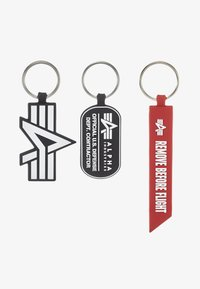 Alpha Industries - KEYCHAIN PACKAGE SET - Keyring - black - 2