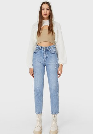 MOM-FIT - Relaxed fit jeans - light-blue denim