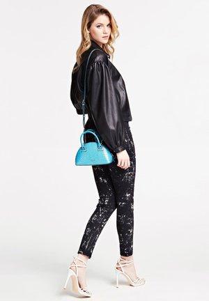 SAC A MAIN SHILAH CROCO - Handbag - turquoise