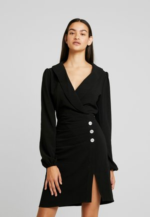 HIGH SLIT SUIT DRESS - Koktejlové šaty / šaty na párty - black