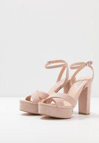 Even&Odd - LEATHER - Sandaler med høye hæler - nude - 4