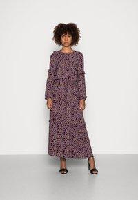 Thought - TABITHA FRILL MAXI DRESS - Maxi dress - amethyst grey - 0