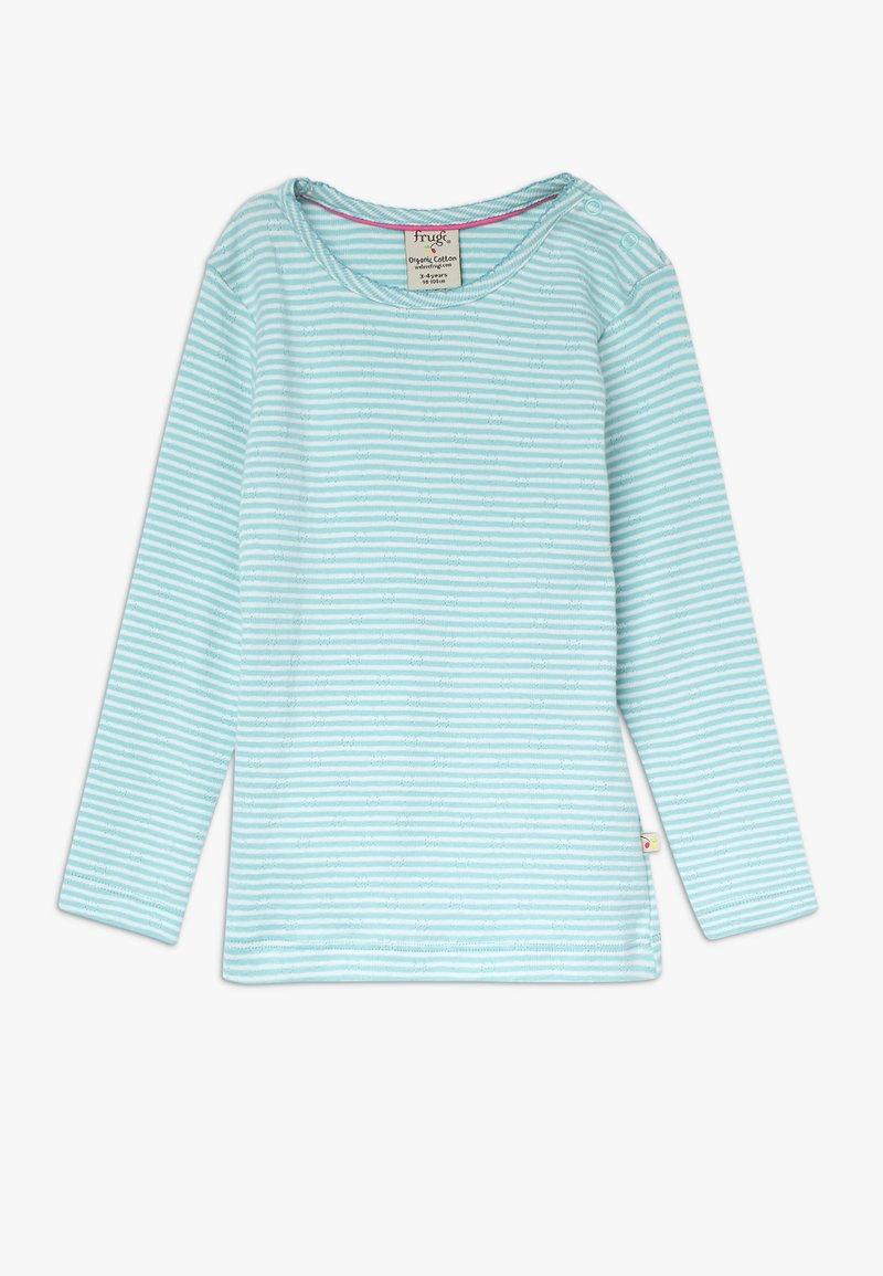 Frugi - MIA POINTELLE - Long sleeved top - topaz blue