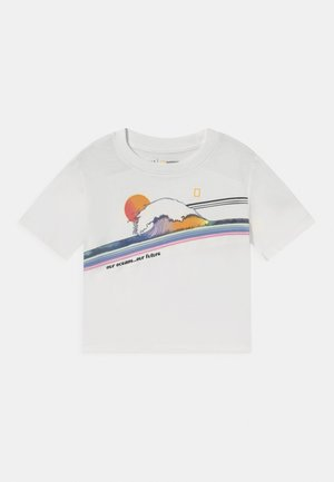 NATIONAL GEOGRAPHIC GIRLS - T-shirt con stampa - new off white