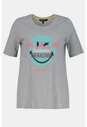 T-shirt print - hellgrau-melange