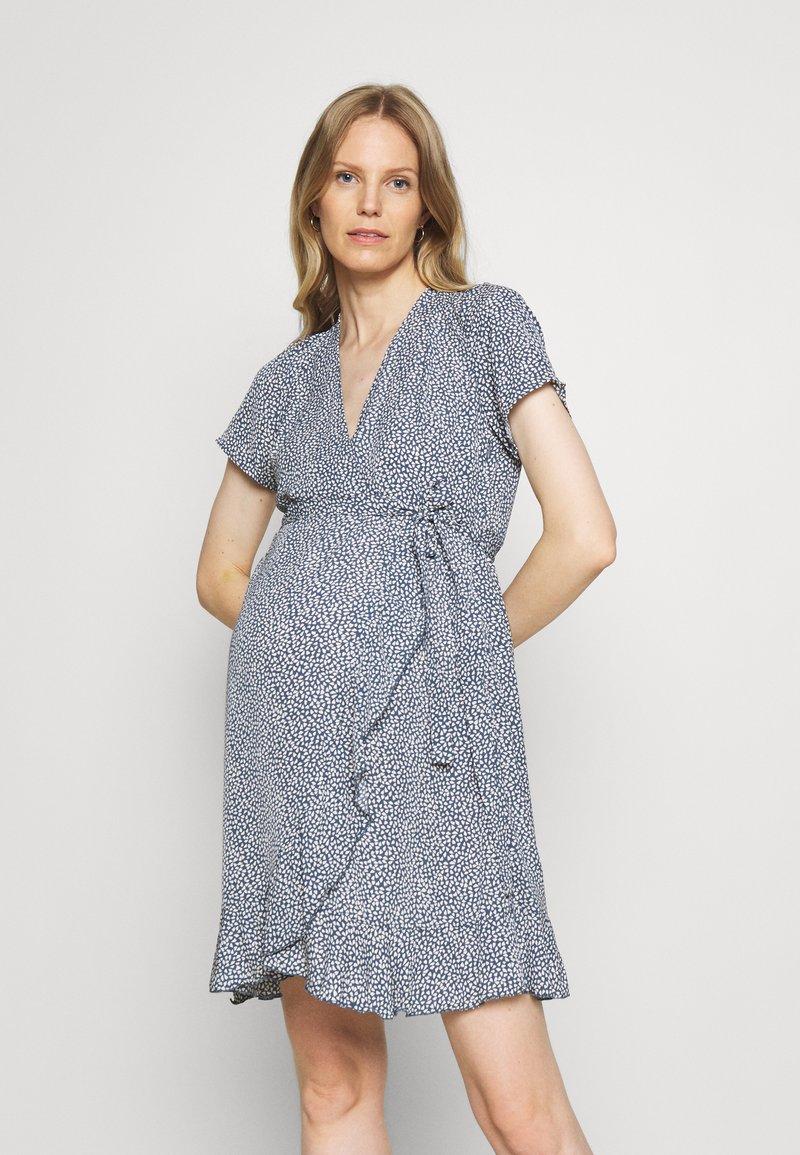 Missguided Maternity - WRAP DRESS - Day dress - blue