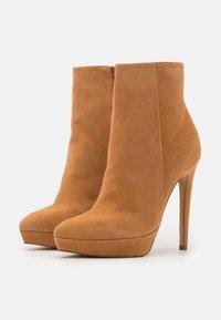 Even&Odd - LEATHER - Kotníková obuv na vysokém podpatku - beige - 2