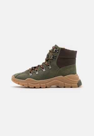 XYZ003 - Lace-up ankle boots - KHAKI