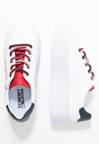 Tommy Jeans - ICON SIGNATURE FLATFORM - Trainers - white - 3