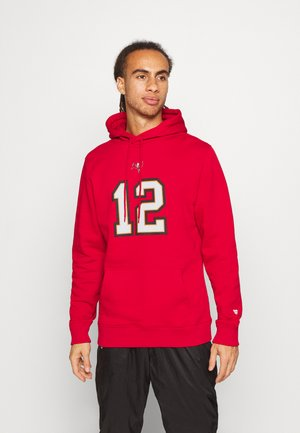 NFL TOM BRADY TAMPA BAY BUCCANEERS ICONIC NAME & NUMBER GRAPHIC  - Sweat à capuche - game red