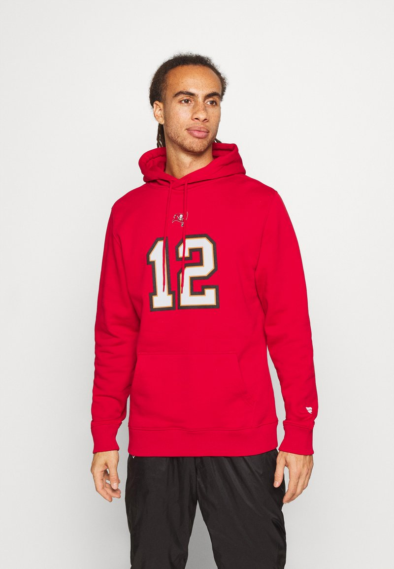 Fanatics - NFL TOM BRADY TAMPA BAY BUCCANEERS ICONIC NAME & NUMBER GRAPHIC  - Hoodie - game red