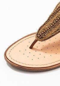 Geox - SOZY PLUS - T-bar sandals - cognac - 2