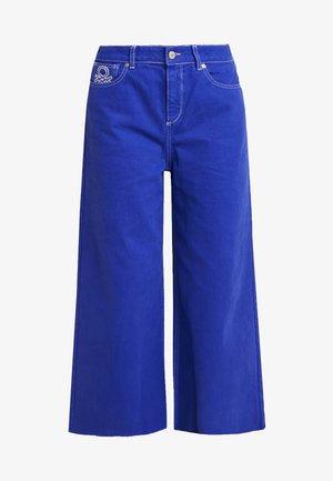 CROP - Flared Jeans - royal blue