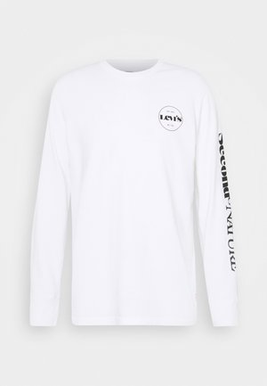 RELAXED GRAPHIC TEE UNISEX - Long sleeved top - white