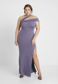 Missguided Plus - ONE SHOULDER MAXI DRESS - Occasion wear - lilac - 2