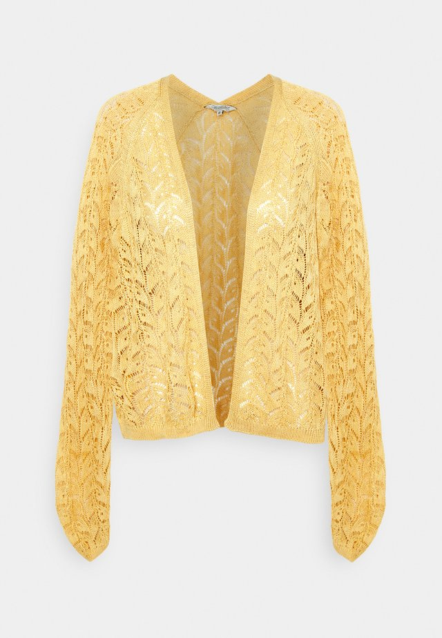RINAMI MIX LEAVES - Cardigan - yellow