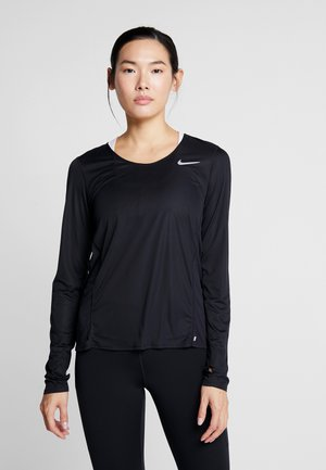 CITY SLEEK - T-shirt sportiva - black