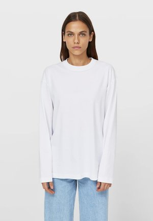 OVERSIZE - Long sleeved top - white