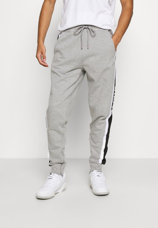 TAPE LOGO - Tracksuit bottoms - heather grey