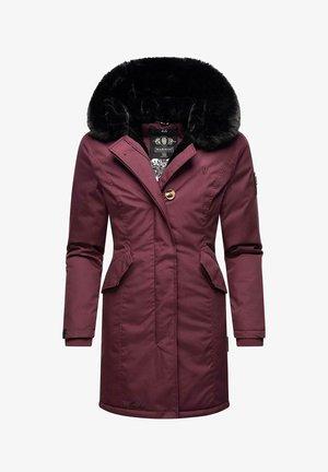 KARAMBAA - Winter coat - dark red melange