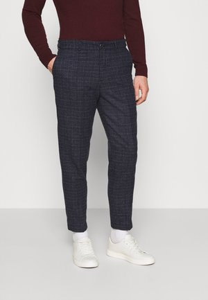 SLHSLIMTAPERED THEO PANTS - Trousers - dark blue/blue