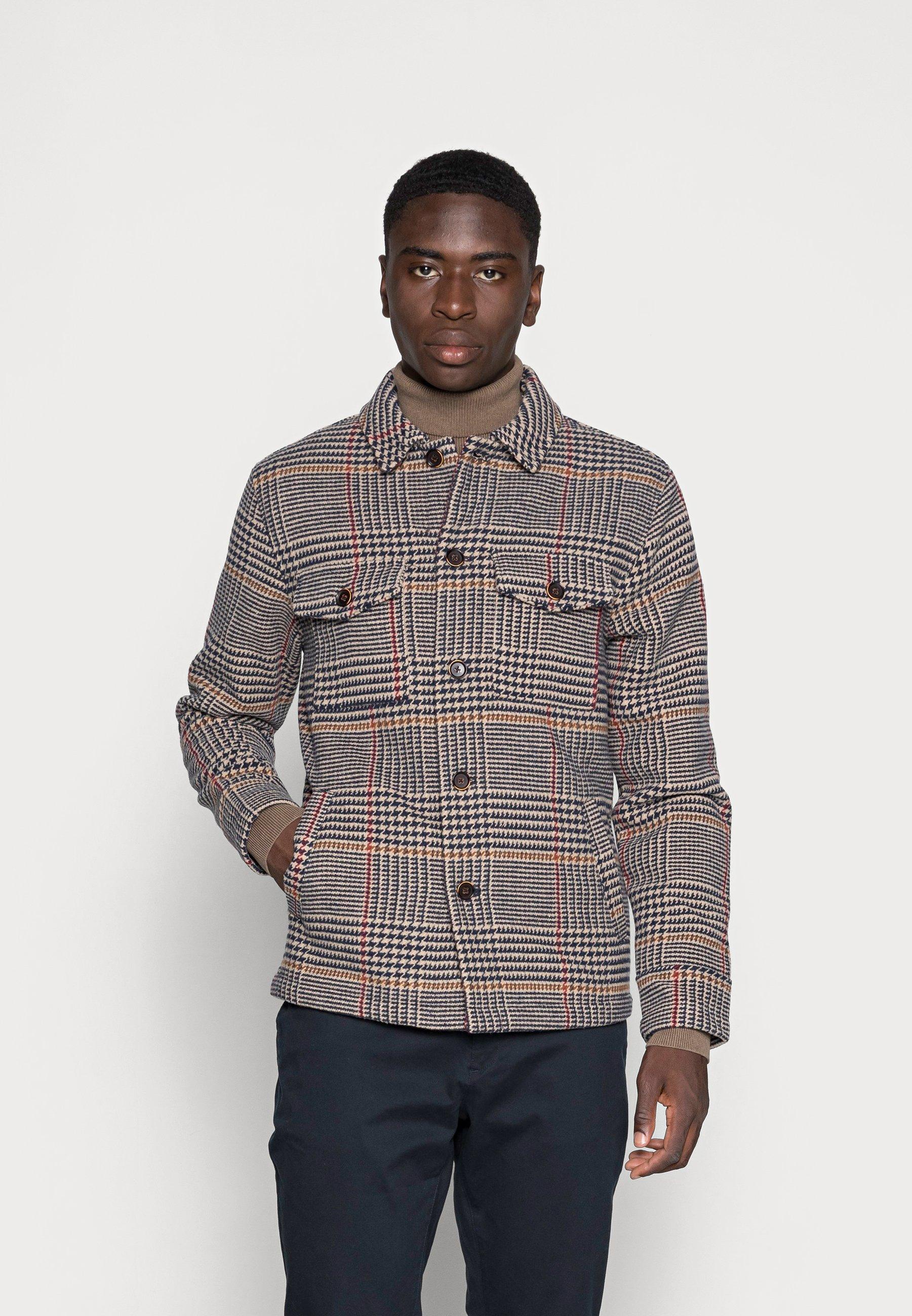 Men BASTIAN HOUND TOOTH CHECK JACKET - Summer jacket