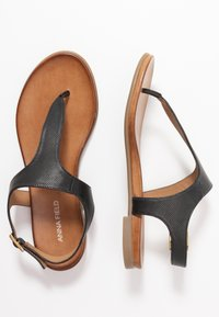 Anna Field - LEATHER - T-bar sandals - black - 3