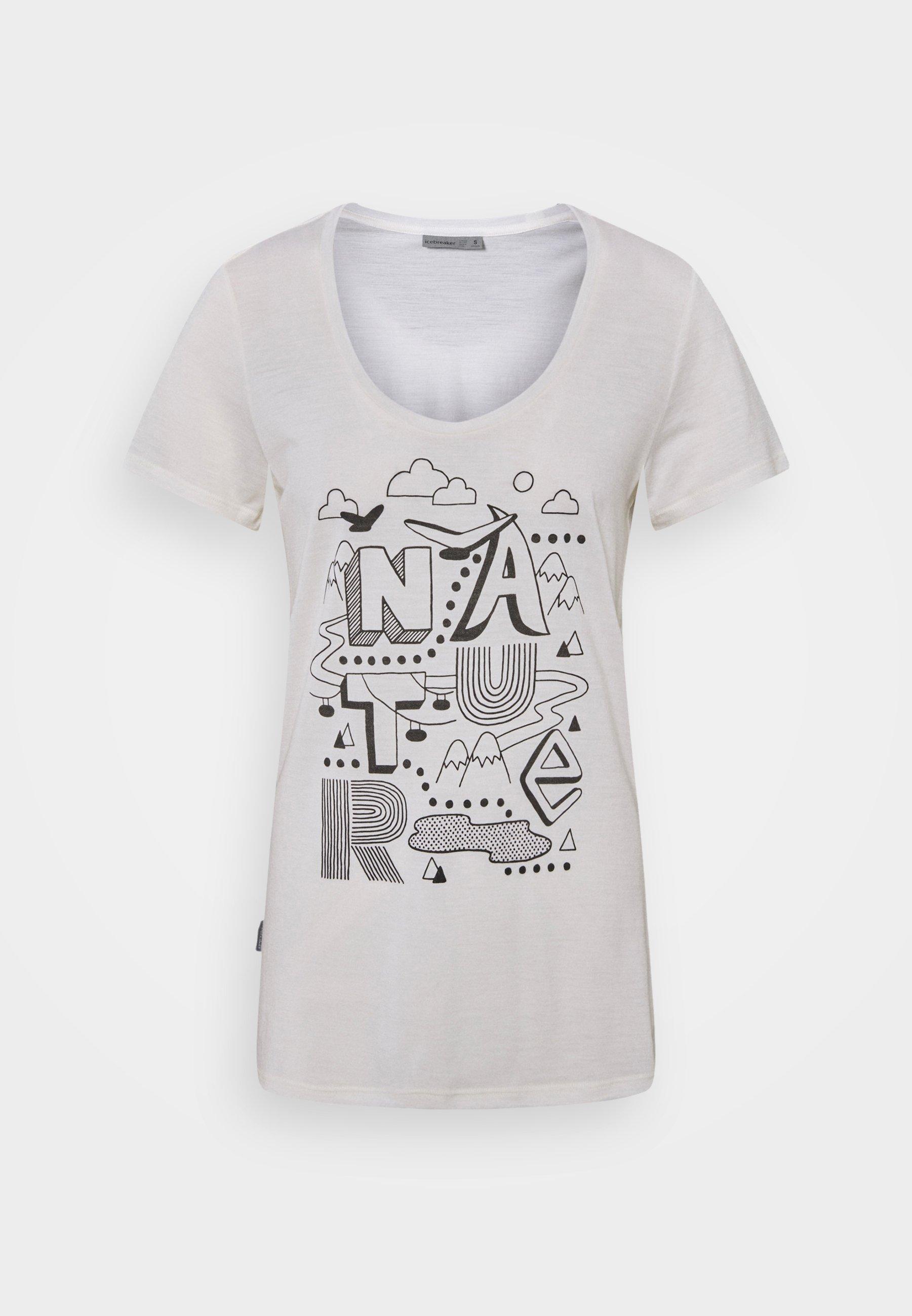 Femme TECH LITE SCOOP NATURE - T-shirt imprimé