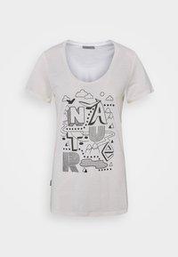 Icebreaker - TECH LITE SCOOP NATURE - Print T-shirt - snow - 0