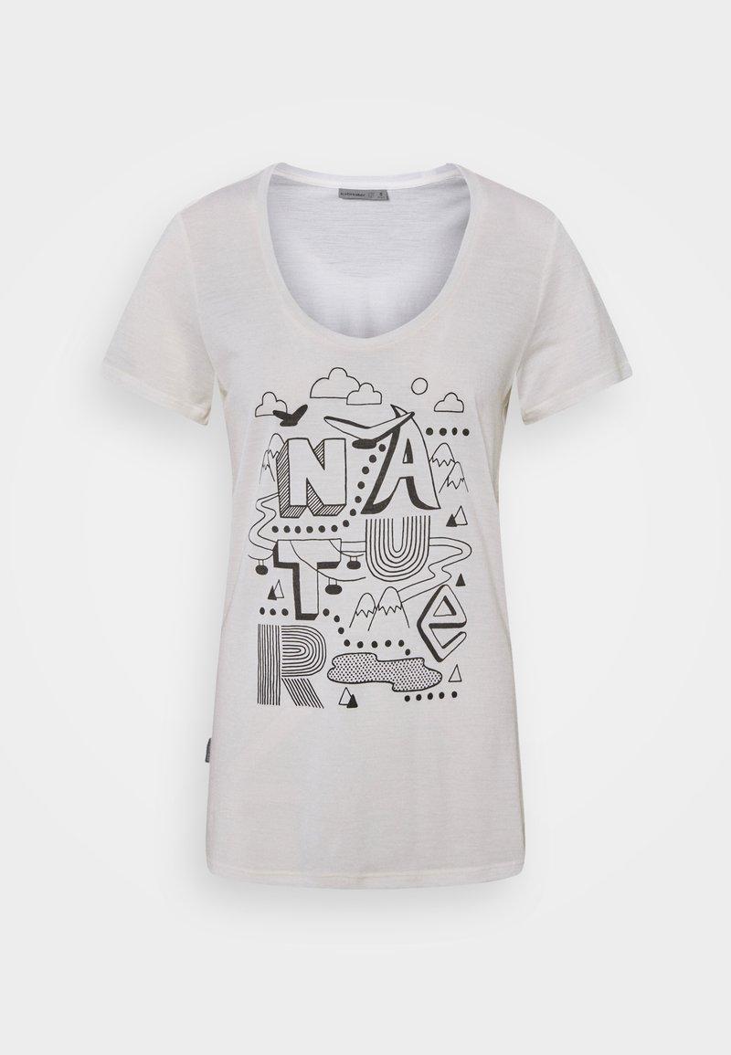 Icebreaker - TECH LITE SCOOP NATURE - Print T-shirt - snow
