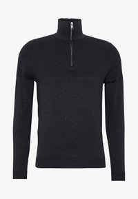 Jack & Jones PREMIUM - JPRBLA BILLY HALF ZIP - Jumper - dark grey melange - 4