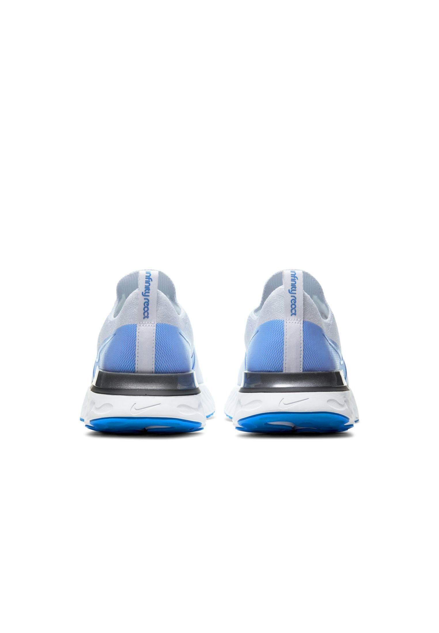 Nike Performance REACT INFINITY RUN FK - Laufschuh Neutral - true white/white/platinum/blue/weiß - Herrenschuhe KM95I