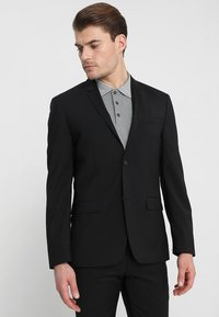 Calvin Klein Tailored - WOOL NATURAL STRETCH FITTED SUIT - Suit - perfect black - 2