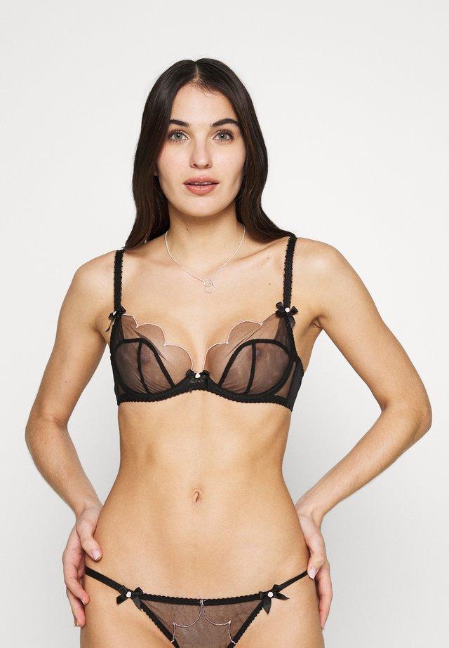 LORNA BRA - Kaarituelliset rintaliivit - black/pink
