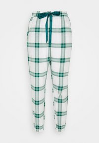PANT TWILL CHECK CUFF - Pyjama bottoms - storm