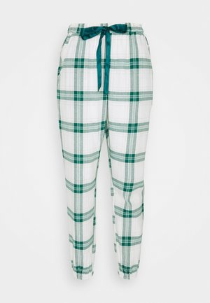 PANT TWILL CHECK CUFF - Pyjama bottoms - storm