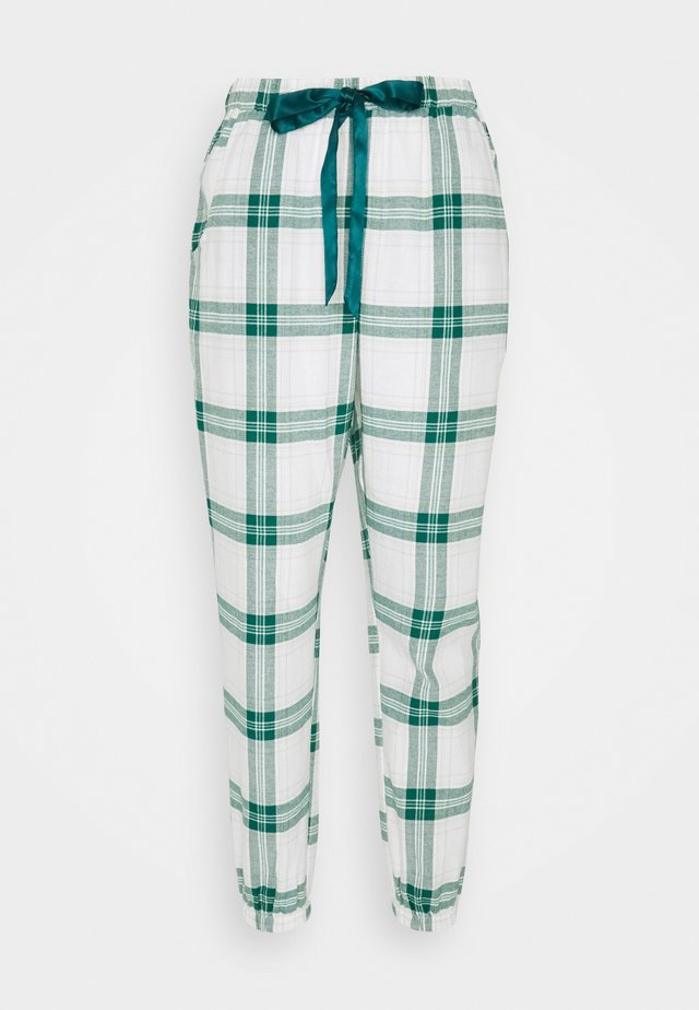 PANT TWILL CHECK CUFF - Pyjamahousut/-shortsit - storm