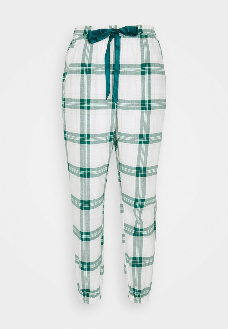Hunkemöller - PANT TWILL CHECK CUFF - Pyjama bottoms - storm